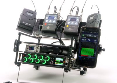 Rack N Bag Location Sound Kit - Small with Optional Small Power Distro, Wing Kit & Phone Holder