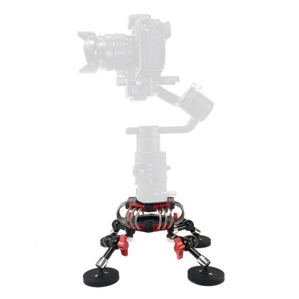 Vibration Isolator Travel Kit 100 mm with camera on gimbel