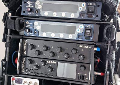 Rack-N-Bag Location Sound Bag for Sonosax SX-R4+ & SX-RC8+ with Optional Large Power Distro & Dual USB