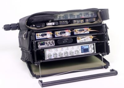 Rack-N-Bag Location Sound Bag for Zaxcom Nomad with Optional Large Power Distro & Boom Pole